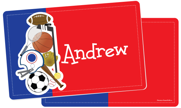 Personalized Sports Camp Fun Placemat