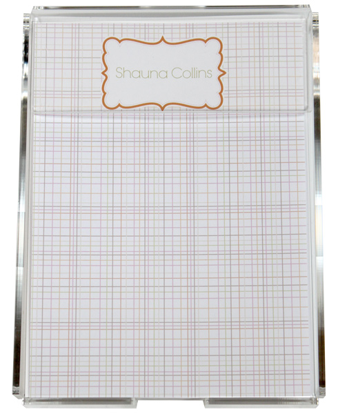 Personalized Spring Lines Memo Sheets