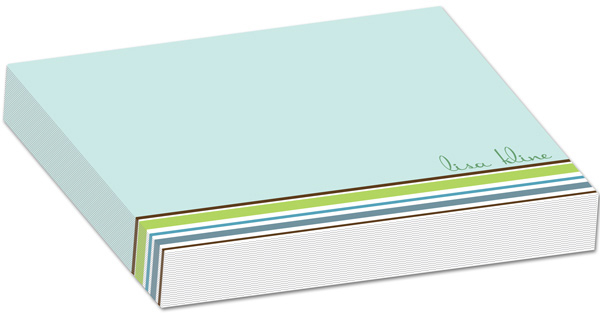 Personalized Stripes Seafoam Bulky Pad