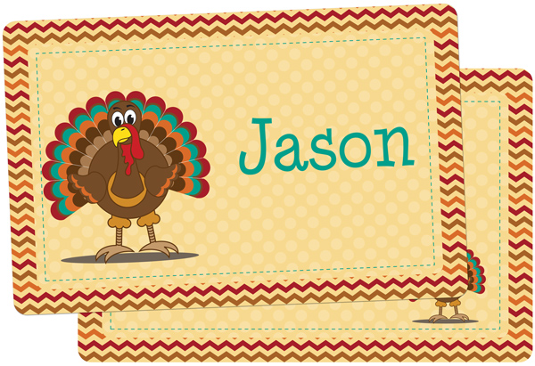 Turkey Personalized Placemat Thanksgiving Placemats