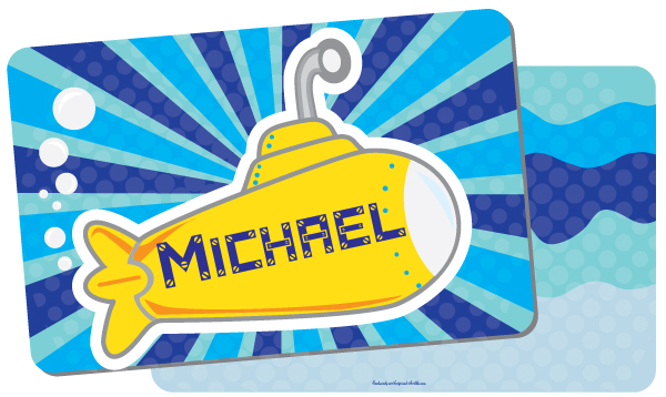 Personalized Submarine Placemat