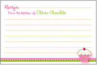 Cupcake Stripe Recipe Card SSRC-06
