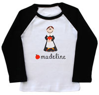 Pilgrim Girl Embroidered Ringer Shirt