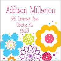 Flower Bunch Return Address Label