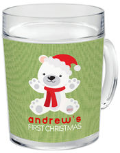 First Christmas Bear Green Acrylic Mug