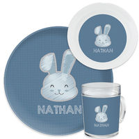 Bunny Chalk Blue Dinnerware Set