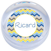Blue Zig Zags Paperweight
