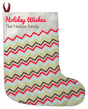 Chevron Tilt Christmas Stocking