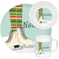 Ice Skates Melamine Set