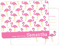 Fancy Flamingos Camp Fill-in Card