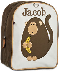 Monkey Business Small Embroidered Backpack