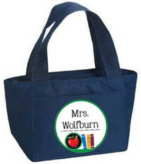 Apple and Books Insulated Tote
