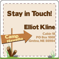This Way to Camp Calling Card