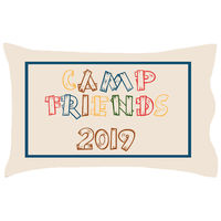 Camp Friends Wood Letters Forest UNPERSONALIZED Pillowcase