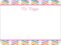 Chevron Pencil Pink Note Card