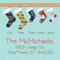 Stockings Square Family Return Address Label