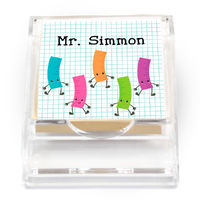 Dancing Rulers Sticky Note Holder
