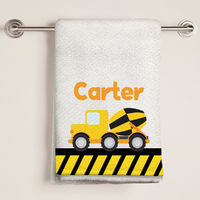 Construction Truck Bath Towel