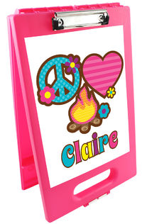 Peace Love Camp Clipboard Storage Case