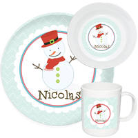 Happy Snowman Melamine Set