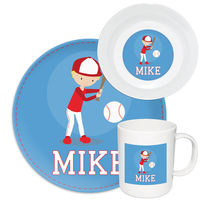 Baseball Boy Melamine Set