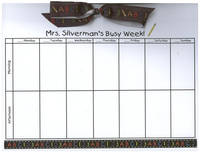 ABC123 Teacher Bow Calendar Pad