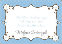Cafe Blue Calling Card