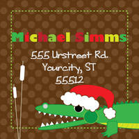 Merry Gator Return Address Label