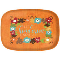 Fall Flowers Thanksgiving Platter