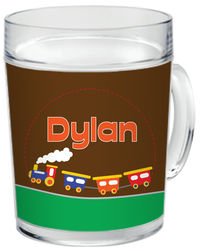 Choo Choo Train Clear Acrylic Mug