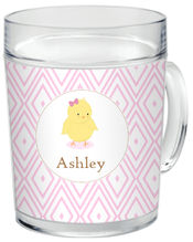 Blushing Chickie Girl Clear Acrylic Mug