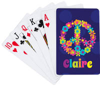 Peace and Flowers Playing Cards