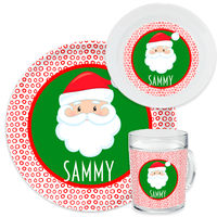 Dotted Santa Dinnerware Set