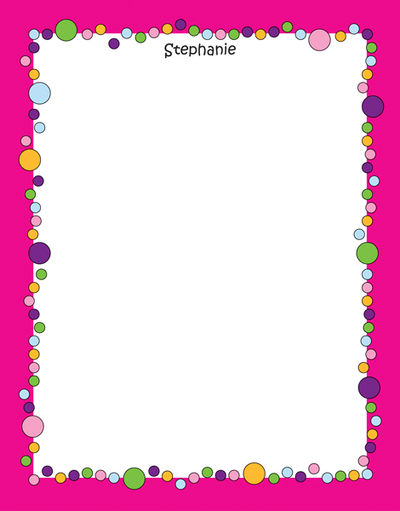 Bubbles Girl Notepad