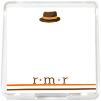 Brown Hat Mini Memo Sheets