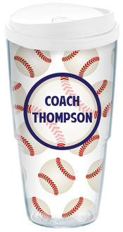Baseball Fanatic Acrylic Travel Cup