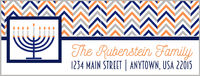Chevron Menorah Address Labels