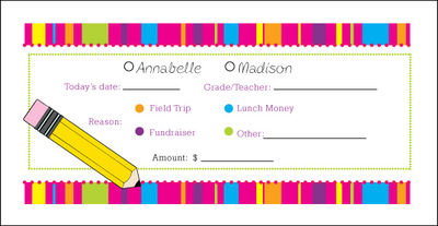 Bright Stripes Money Envelope