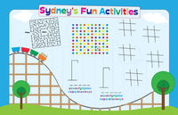 Roller Coaster Fun Paper Placemats