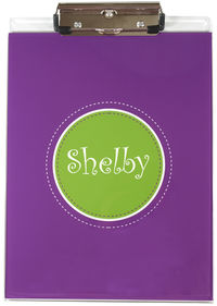 Purple Green Acrylic Clipboard