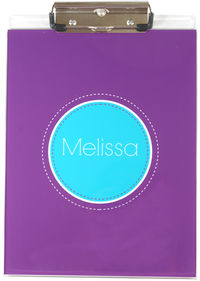 Purple Blue Acrylic Clipboard
