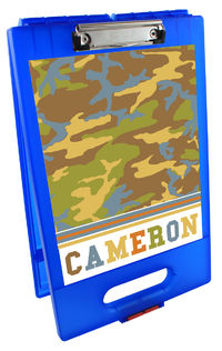 Camo Boy Clipboard Storage Case