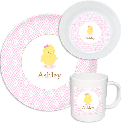 Blushing Chickie Girl Melamine Set