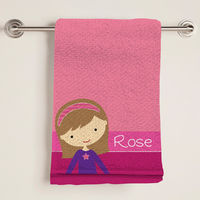 Girly Girl Bath Towel