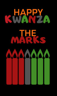Celebrate Kwanzaa Gift Sticker