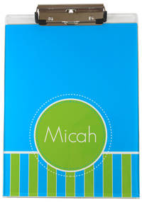 Blue Green Stitches Acrylic Clipboard