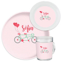 Bicycle For Two Valentine Dinnerware Set