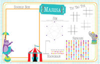 Circus Fun Games Paper Placemat