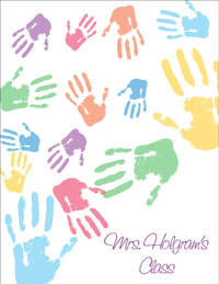 Colorful Hands Large Notepad