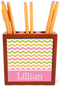Colorful Chevron Pencil and Pen Holder